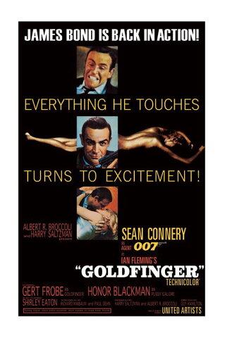 【送料¥290〜】 ジェームズ・ボンド 007/James Bond (Goldfinger - Excitement) ポスター