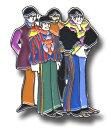 【送料¥216〜】 【ロンドン直輸入オフィシャルグッズ】ビートルズ  ピンバッチ The Beatles Pin Badge: Yellow Sub Band (MEDIUM) (100712)