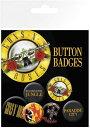 ガンズ・アンド・ローゼズ カンバッチセット Guns N Roses Lyrics and Logos(140206)