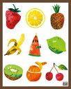 エリック・カール (Eric Carle) はらぺこあおむし ミニポスターフレームセット(ブラウン) Caterpillar With Fruits(130305)