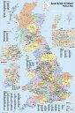 英国(グレートブリテン及び北アイルランド連合王国)地図 ポスター UK Map Political 【世界地図】(140620)