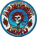 【アメリカ直輸入オフィシャルグッズ】グレイトフル・デッド ワッペン (アイロン接着可) Grateful Dead Skull and Roses Logo