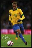 ネイマール ポスターフレームセット Neymar (Autograph)¥3800以上お買い上げで (140219)