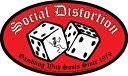 【送料¥216〜】 【アメリカ直輸入オフィシャルグッズ】ソーシャル・ディストーション デラックスステッカー Social Distortion Dice