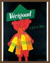 サヴィニャック ミニポスターフレームセット(Raymond Savignac)/ヴェリグード とってもおいしい(ブラウン)!