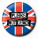 Punks Not Dead (Flag) カンバッチ (150930)