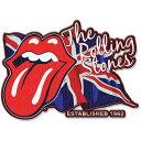 【送料¥216〜】 【ロンドン直輸入オフィシャルグッズ】ローリング・ストーンズ アイロンワッペン Rolling Stones Iron-on Patch: L...