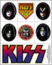【送料¥216〜】 【USA直輸入オフィシャルグッズ】キッス デラックスステッカー Kiss Assorted (150202)