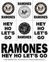 ラモーンズ ステッカーセットRamones Eagle & Logo (160902)