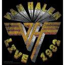 【送料¥250〜】 【USA直輸入オフィシャルグッズ】ヴァン・ヘイレン デラックスステッカー Van Halen Live '82【170501】
