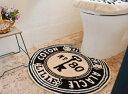 【トイレマットアンティークキー】トイレマット トイレカバー フタカバー マット かわいい おしゃれ ブルックリン フレンチカントリー カフェ風 カフェ デザイン...