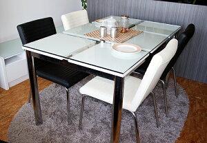 ガラステーブルクリアガラス限定ダイニングテーブル食卓テーブルテーブル机つくえNフレスコ130ダイニングテーブルのみ【送料無料-0215】【送料無料100215】