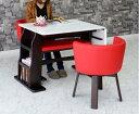 ダイニングテーブルセット ダイニングテーブル 4点セット 鏡面テーブル 伸張式テーブル 伸張式 鏡面 回転椅子 無垢 北欧 回転 回転式 チェア ベンチ 椅子 ...