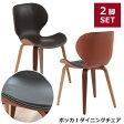 【2脚セット】ステッチがワンポイントの可愛らしい ダイニングチェア カフェチェア cafe chair お洒落 ダイニングチェア いす 椅子 2脚入り 木製 PVCチェア デザインチェア★ボッカI ダイニングチェア【02P03Sep16】