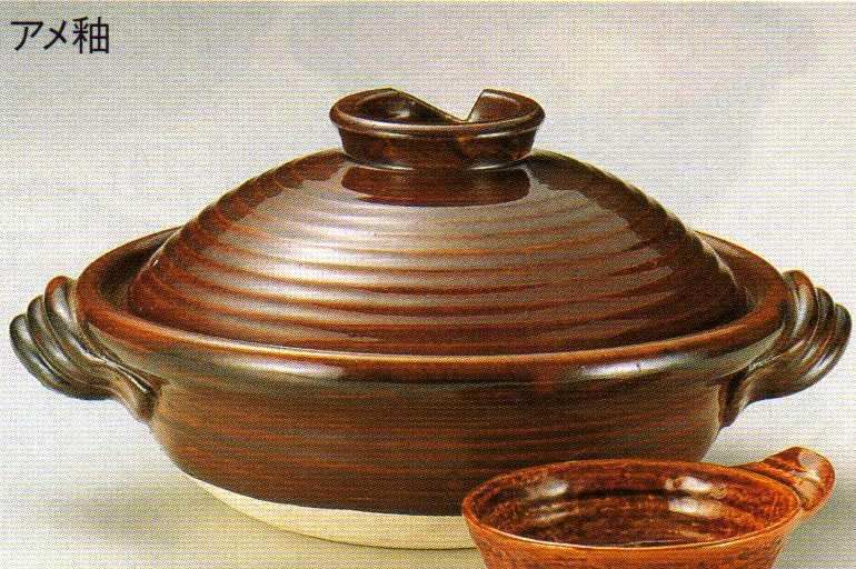 あめ釉土鍋 6号の商品画像