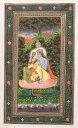 【肉筆1点もの】インドの細密画『クリシュナとラーダーの恋物語』