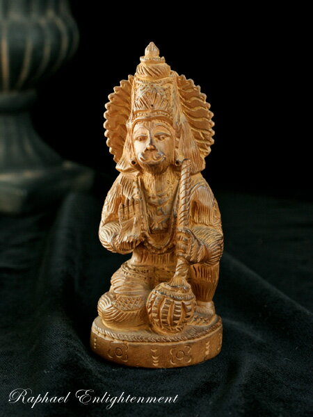 限定1体【強い悪意からあなたを守る】ハヌマーン神仏像・インド白檀(サンダルウッド)・総手彫り(仏像)【10P05Nov16】