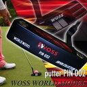 ウォズ(Woss)ゴルフ パター ピン ヘッドカバー メンズ ブラック 黒/パターゴルフ ゴルフクラブ ピン型 ピンタイプ 上達 パターカーバー 初心者 ワールドモデル pin-002/(ブラック/ホワイト)