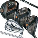 ダンロップ XXIO X ゼクシオ エックス メンズ ゴルフクラブ11本セット(ドライバー 1,フェアウェイウッド 4,ハイブリッドU4,アイアン 5-9,PW,AW,SW)ウッド:Miyazaki AX-1カーボンシャフト/アイアン:N.S.PRO920GH D.S.T. For XXIOスチールシャフト(S)