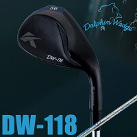 kasco キャスコ ウェッジ DOLPHIN WEDGE DW-118 BLACKドルフィンウェッジ DW-118 ブラック ストレートネック ウェッジ Dolphin DP-151 カーボンシャフト【18】ゴルフクラブの画像