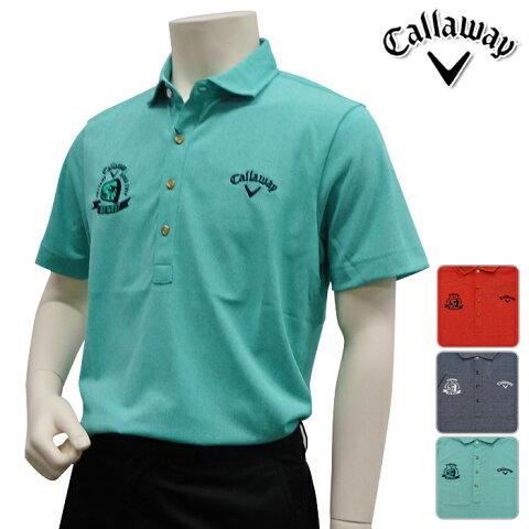 【241-7157518】【40%OFF】【春夏モデル】Callaway Apparel-キャロウェイ アパレル- MENS (メンズ) ドット ジャガード ショートワイドカラー 半袖 シャツ【17】【トップス】【ウェア】MLLL3Lサイズ【ゴルフ用品】