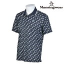 【半袖シャツ系】【JWMJ227】【NEW春夏モデル】Munsingwear-マンシングウエア- MENS (メンズ) 半袖 総柄 シャツ【17】【トップス】【ウェア】【ゴルフ】M,L,LL,3Lサイズ