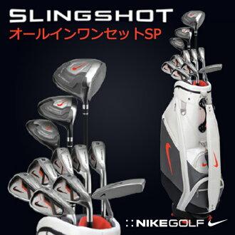 耐克 (Nike) 高爾夫 11 集俱樂部集完整集的男裝彈弓完全發病 / 耐克高爾夫耐克高爾夫俱樂部耐克高爾夫俱樂部設置高爾夫設置的新手中間 / #1W #3W #U4 鐵 # 5-PW SW # 9 推杆球童袋 /