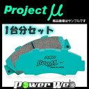SUZUKI アルト・アルト ワークス 660 91.9〜 CM22V(WORKS) プロジェクトミュー(Projectμ) ブレーキパッド...
