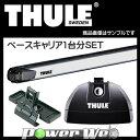 THULE (スーリー) ベースキャリアセット サーブ 9-3 スポーツエステート '05〜 FB## [753/891/3065]