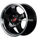 MID RMP RACING R05HC (RMPレーシング R05HC) 18インチ 8.0J PCD:139.7 穴数:6 inset:38 ブラックリムポリッシュ ホイール4本セット