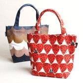 可愛くオシャレなミニトートバッグでショッピングもランチタイムも楽しく♪ランチバッグとして、サブバッグとして。小物収納付きのデザイナーズジャパンのミニトートバッグ