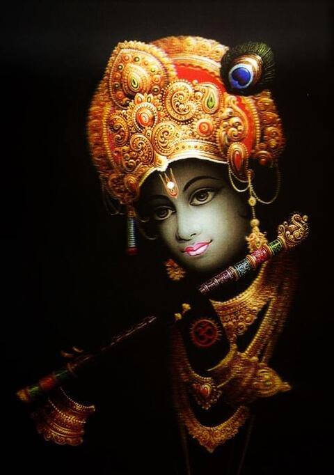 インドの神様 クリシュナ神フォトカード 2L版×1枚India God【krishna】Photo Card 2L【神聖】【知】【愛】【美】【魅力】【魅了】