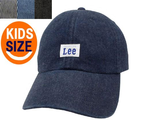 Lee リー LE KIDS LOW CAP DENIM 100-276302 JELT DENIM HICKORY BLUE BLACK 子供 キッズ カジュアル 帽子 デニム ロー キャップ メンズ レディース 親子コーデ 男女兼用 あす楽