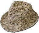 ニューヨークハット New York Hat ストローハット 7016 SEA GRASS FEDORA Natural 中折れ 麦わら 帽子 天然草 メンズ レディース