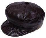New York Hat ニューヨークハット 9207 LAMBSKIN SPITFIRE ランバスキン スピットファイア Brown 帽子 キャスケット レザー 紳士 婦人 メン