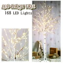LED BIRCH TREEクリスマス ツリー 168 LED ライトモード切替 屋内 屋外 兼用白樺 Costco【smtb-ms】0583905