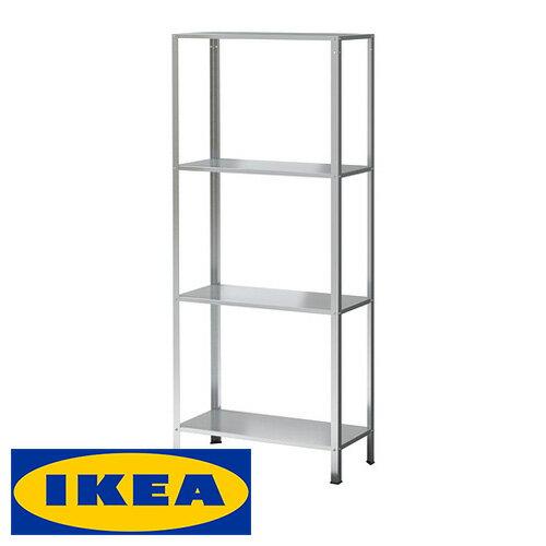 IKEA HYLLIS 3段 シェルフユニット 室内/屋外用 収納棚イケア ヒュッリス 亜鉛メッキ 収納ラック 60x27x140cm インテリア エクステリア キャビネット 【smtb-ms】80278579の写真