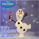 アナと雪の女王 オラフ LED オブジェクリスマス Disney FROZEN OLAF SNOWMAN with LED LIGHTS【smtb-ms】057...