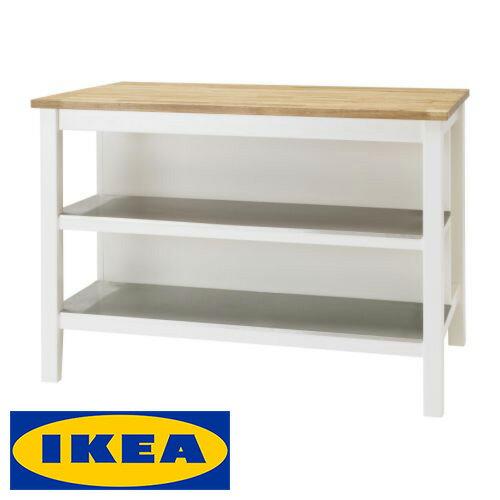 IKEA STENSTORP 独立型 アイランドキッチンイケア ステンストルプ アイランド キッチンテーブル 126x79x90cmキッチン 机 収納 台所 調理台【smtb-ms】00116996