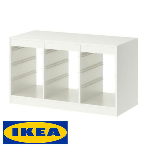 IKEA TROFAST 収納 フレーム イケア トロファスト 99x44x56cm ホワイト ラック 棚 キャビネット 収納ボックス【smtb-ms】00169918