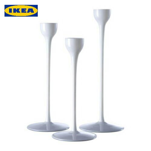 IKEA BLOMSTER キャンドルホルダー3個セットガラス ホワイトイケア ブロムステル キャンドルスタンド ろうそく立て【smtb-ms】10165665