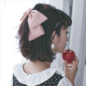 髪飾り ヘッドドレス ビッグ リボン シルク ヘアアク