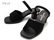 ルチアーノバレンチノ LUCIANO VALENTINO 3903 レディース オフィスサンダル 6cm美脚ヒール 安定ヒール 超人気商品 黒 日本製 靴