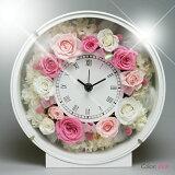プリザーブドフラワー お花の時計 PSYH-0120 掛け時計 置き時計 母の日 お祝い