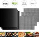 バーベキューマット BBQグリルマット 6枚組(3 3枚) グリルシート 料理用マット 焦げ付き防止 40x33cm 超耐熱260℃ 軽量 再利用可能 焼き網 FDA食品安全認証済