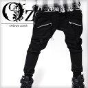 V系 ファッション メンズ ジョガーパンツ サルエルパンツ zip パンツ ツイル ブラック ヴィジュアル系 ビジュアル系 ロック ROCK ロックファッション...
