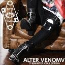 【ALTER VENOMV オルターベノム】Knell BOOTS ver.2†ブーツ スタッズ ヒールブーツ 靴 V系 ファッション ヴィジュアル系 メンズ ビジュアル系 ロック ROCK パンク フェイク レザー モード系 派手 個性的 個性派 Oz オズ