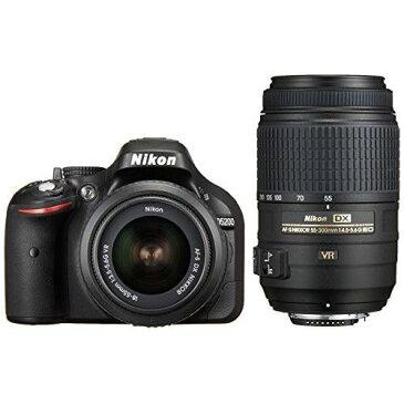 【中古】【1年保証】【美品】 Nikon D5200 ダブルズーム 18-55 55-300 VR