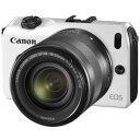 【中古】【1年保証】【美品】 Canon EOS M EF-M 18-55mm IS STM ホワイト