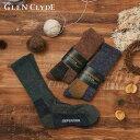 【父の日ギフト】 【ラッピング資材無料】 メール便送料無料 グレンクライド GLEN CLYDE ディフェンダー DEFENDER ブーツソックス 靴下 メンズ ロング丈 日本製 ブランド ギフト プレゼント 25-27.5 ブルー ブラウン グリーン Ll020